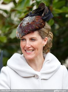 British Royal Family attend Easter Sunday service at Windsor Castle.. April 5, 2015 Sophie Countess of Wessex