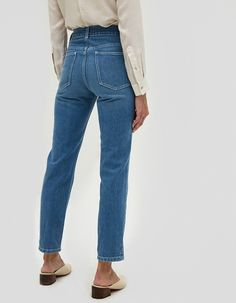 NOTE: These jeans run small. Size up one size for best fit. Vintage-inspired jeans from NEED in Isla. Medium wash. High rise. Zip fly with top button closure. Classic five-pocket styling. Satin-finished silvertone buttons and rivets. Back yoke.