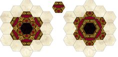 Tips & Lessons > Fussy Cutting Border Prints for Hexagons