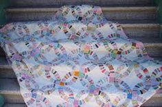 feedsack wedding rings quilt - Google Search