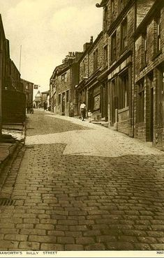 Hilly Street, Haworth. #postcards