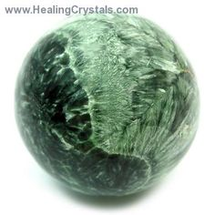 Seraphinite Spheres (India)  Seraphinite is a stone of light energy, pulling higher vibrations into the subtle bodies, making it an important stone for those working on the ascension process.  http://www.healingcrystals.com/Sphere_-_Seraphinite_Spheres__India_.html  Code HCPIN10 = 10% discount