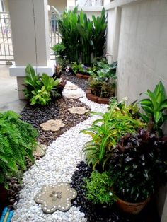 small stone garden, easy to maintain for a busy family! Start it off right with Yardproduct.com