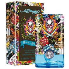 Ed Hardy Hearts and Daggers by Christian Audigier Eau-de-toilette Spray for Men, 3.40-Ounce by Christian Audigier. $28.19. A spicy, fiery fragrance.. Hearts & Daggers For Men evokes love?s undying flame with notes of Anjou pear, basil, martini accord, white pepper, papaya, suede and sandalwood.. Recommended for casual wear. Introduced in 2010, ed hardy hearts and daggers is designed for men.