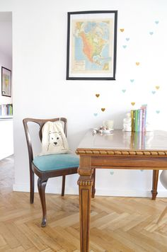 Hearts on the wall. Office Desk, Hearts, Wall, Furniture, Instagram, Home Decor, Desk Office, Decoration Home, Desk