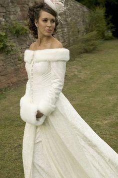 wedding dresses with fur
