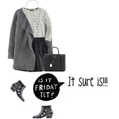 How To Wear Monochrome Friday Outfit Idea 2017 - Fashion Trends Ready To Wear For Plus Size, Curvy Women Over 20, 30, 40, 50
