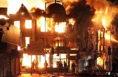 Famous Building Fires | Fires in Croydon destroy businesses & residences