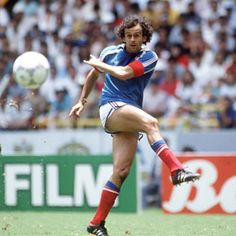 Michel Platini, who played in three Fifa World Cups (1978 - 1982 - 1986) with France