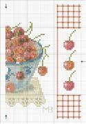 Schema punto croce Piatto Di Ciliegie 03