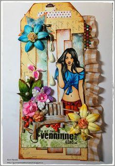 Gunns Kreative Rom Star Designs, Types Of Art, Paper Dolls, Bookmarks, Stamps, Inspiration, Paper Envelopes, Art, Creative