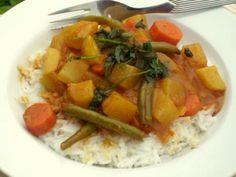 Kartoffel-Curry mit Kohlrabi, Möhren und Grünen Bohnen #Rezept
