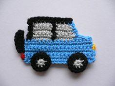 Geländewagen++-+Häkelapplikation+von+Spielkiste+auf+DaWanda.com