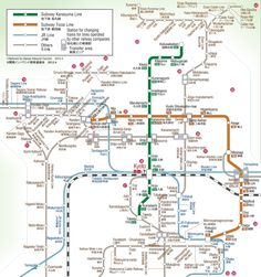 Kyoto - Subway and Train Lines in Kyoto - PRINTED