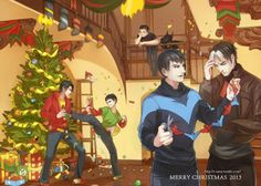 Christmas with the Bat Family... Merry Christmas!!!