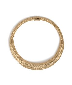 Braided-effect gilded metal lends an opulent look to this textured collar necklace from Aurélie Bidermann #Stylebop