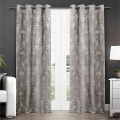 These beautiful Bangalore thermal insulated grommet top window curtain panels provide a sophisticated look to any room sure to impress guests.