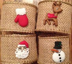 Burlap Holiday Napkin Rings Christmas Napkin Rings by TheSleepyDog                                                                                                                                                                                 More