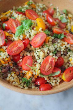 Raw Food Recipes, Salad Recipes, Vegetarian Recipes, Healthy Recipes, Pasta Recipes, Dinner Recipes, 300 Calories, No Cook Meals, Quick Meals