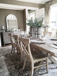 Dining Room Table And Chairs Ideas. Earlier This Year We Purchased New  Furniture For Our Dining Room. I Love The Lighter Wood And More Casual  Style!