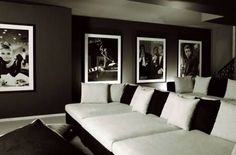 old style home cinema - like the black and white images