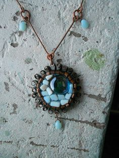 Upcycled Vintage Long Necklace with Moonstones by TamsGeminarium, $36.00