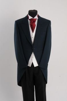 4bd11dbd61bb7 Mens green ascot tailcoat wedding morning suit tails goth fancy dress jacket