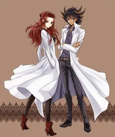 Another SUPER cute Yugioh couple.  This one in from: Yugioh 5D's.  Yusei totally likes her! And they sooo like each other!! :D AKIZA X YUSEI! Kyaaa!!! >//< They are just sooo cute!