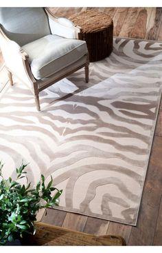 Rugs USA Velvet Zebra Print Cream Rug.Area Rug, Carpet, Design, Style