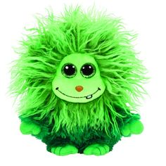 Ty Small Monstaz 008- Green Frizzy Haired Scoops