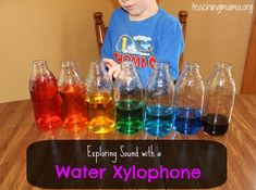 Water Xylophone - Pinned by @PediaStaff – Please Visit ht.ly/63sNtfor all our pediatric therapy pins
