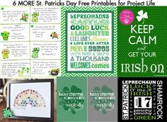 6 MORE St. Patricks Day Free Printables for Project Life/ Project365