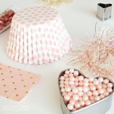 Pretty color scheme for Valentine's Day - would also work beautifully for a Bridal Shower, Baby Shower, Birthday party or  for a Mother's Day celebration.