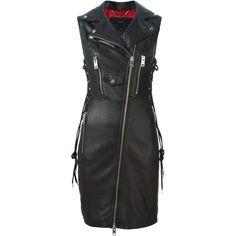 Diesel L-Melisa Dress (5,430 CNY) ❤ liked on Polyvore featuring dresses, black, diesel dresses, black dress and kohl dresses