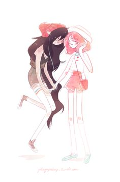 galaxyspeaking: springtime Marceline & Bubblegum More otp tuesday, p.s. I love both Gumlee and Bubbline <3 Equally