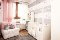 Grey, White and Pink Nursery - with lots of @IkeaUSA pieces!
