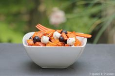 Salade potimarron, fromage frais et raisin noir #automne #hiver