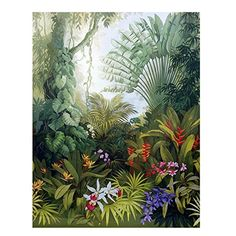 Southeast Asia Forest Wallpaper Wall Mural, Huge Tree with Plants and Flowers Wall Mural, Living Room Bedroom Wallpaper Wall Decor Forêt dAsie du sud-est papier peint mur murale grand arbre Flowers Wallpaper, Wallpaper Wall, Forest Wallpaper, Photo Wallpaper, Bedroom Wallpaper, Leaves Wallpaper, Unique Wallpaper, Wallpaper Paste, Custom Wallpaper