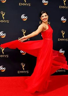 Priyanka Chopra /in Jason Wu/ attends the 68th Annual Primetime Emmy Awards at Microsoft Theater on September 18th, 2016 in Los Angeles, California.