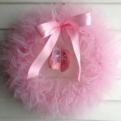 Ballerina Party Tutu Wreath/ It's a Girl Wreath  14 by shopfluff