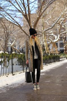 Atlantic-Pacific: Chill in Leopard Linen Emerson Fry Wingtip Coat