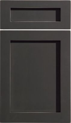 """Dura Supreme Cabinetry """"Homestead Panel"""" cabinet door style shown in Maple, Graphite Paint with Shadow Glaze & Rub-Thru finish."""