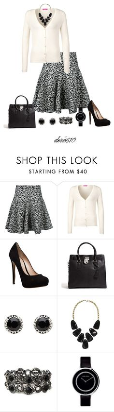 """The Skirt #2"" by doris610 ❤ liked on Polyvore featuring Aquilano.Rimondi, FTC, Nicholas Kirkwood, MICHAEL Michael Kors, Mimco, Kendra Scott and Georg Jensen"