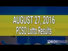 PCSO Lotto Results August 27, 2016 (6/55, 6/42, 6D, Swertres & EZ2) - http://LIFEWAYSVILLAGE.COM/lottery-lotto/pcso-lotto-results-august-27-2016-655-642-6d-swertres-ez2/