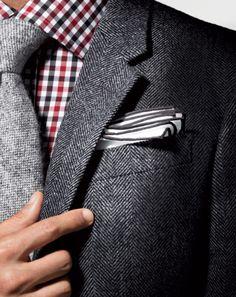 Krawatte + Sakko + Einstecktuch