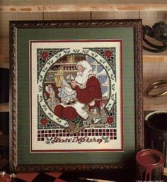 Santa's Great Book - Cross Stitch Pattern