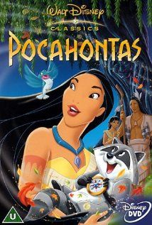 *POCAHONTAS, Poster, 1995: The daughter of a Native american tribe chief and English soldier share a romance when English colonists invade 17th Century Virginia.  Stars: mel Gibson, Linda Hunt & christian Bale.