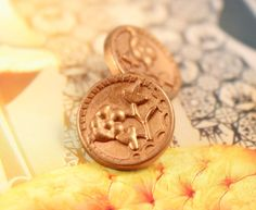 Plum Flower Metal Buttons , Golden Brass Color , Shank , 0.51 inch , 10 pcs on Etsy, $6.00