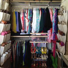Small closets can still be beautifully organized #twirled #roygbiv