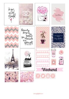 Hello! I hope everyone is doing well! It's been awhile but I am back with a free Happy Planner printable and this time, it is 'Chanel' inspired. The Kate Spade inspired printable …